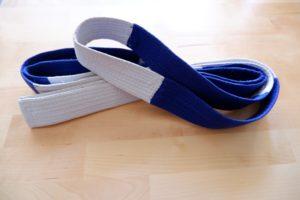 Ceinture bicolore blanc-bleu