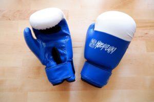 Gants de boxe avec ouverture paume
