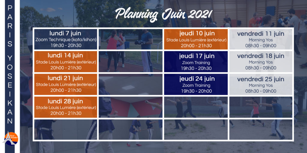 Planning juin 2021